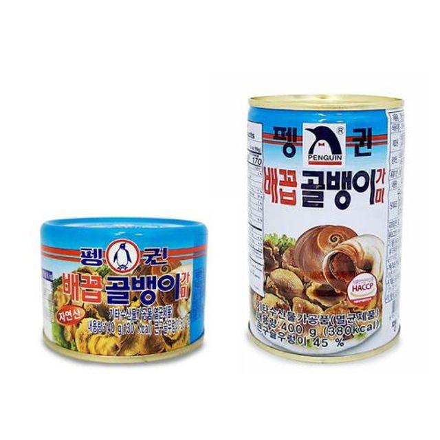 펭귄 자연산 배꼽 골뱅이 가미 통조림 캔 140g