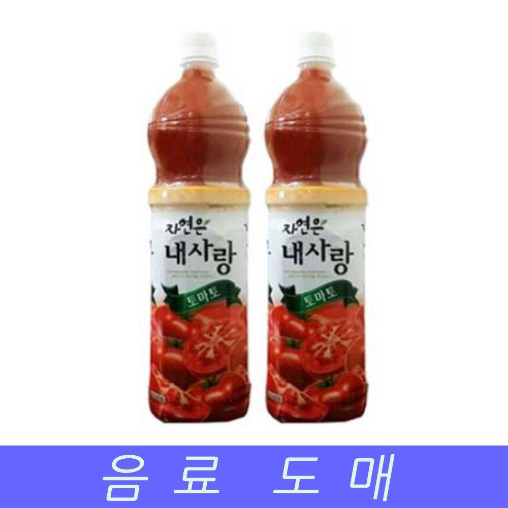 웅진 음료수 도매 과채음료 내사랑 토마토 1.5lX12EA