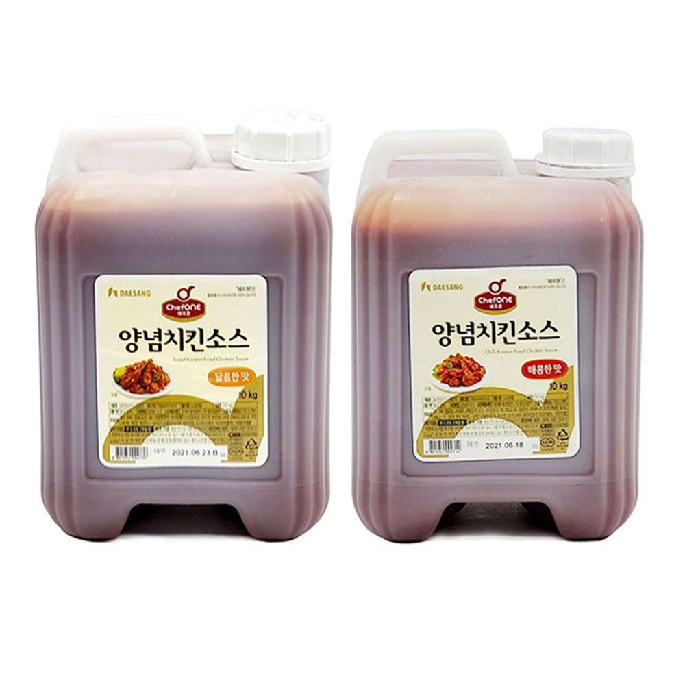 쉐프원 양념치킨소스 매콤한맛/ 달콤한맛 10kg 말통
