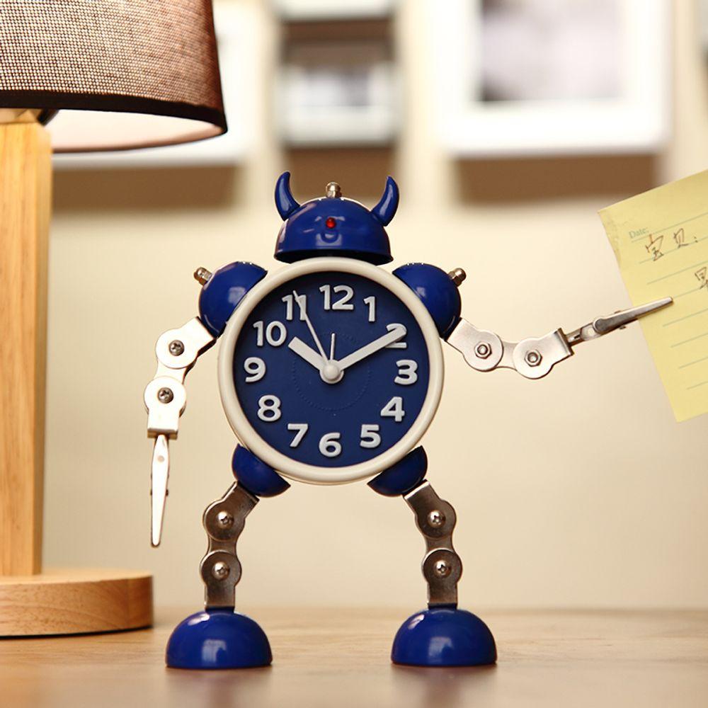[더산직구]변형 로봇 알람 시계 학생 자명종 어린이 테이블 시계/ 배송기간 영업일기준 7~15일