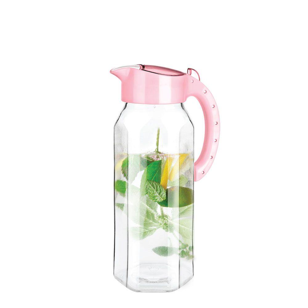 티티즈 유리물병 1500ml (핑크)_냉장고 물통 유리병
