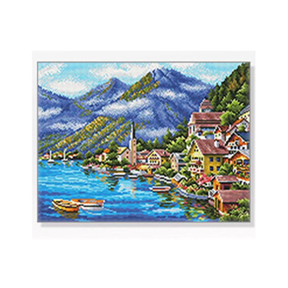 DIY 보석십자수 풍경시리즈 산과호수 40X50