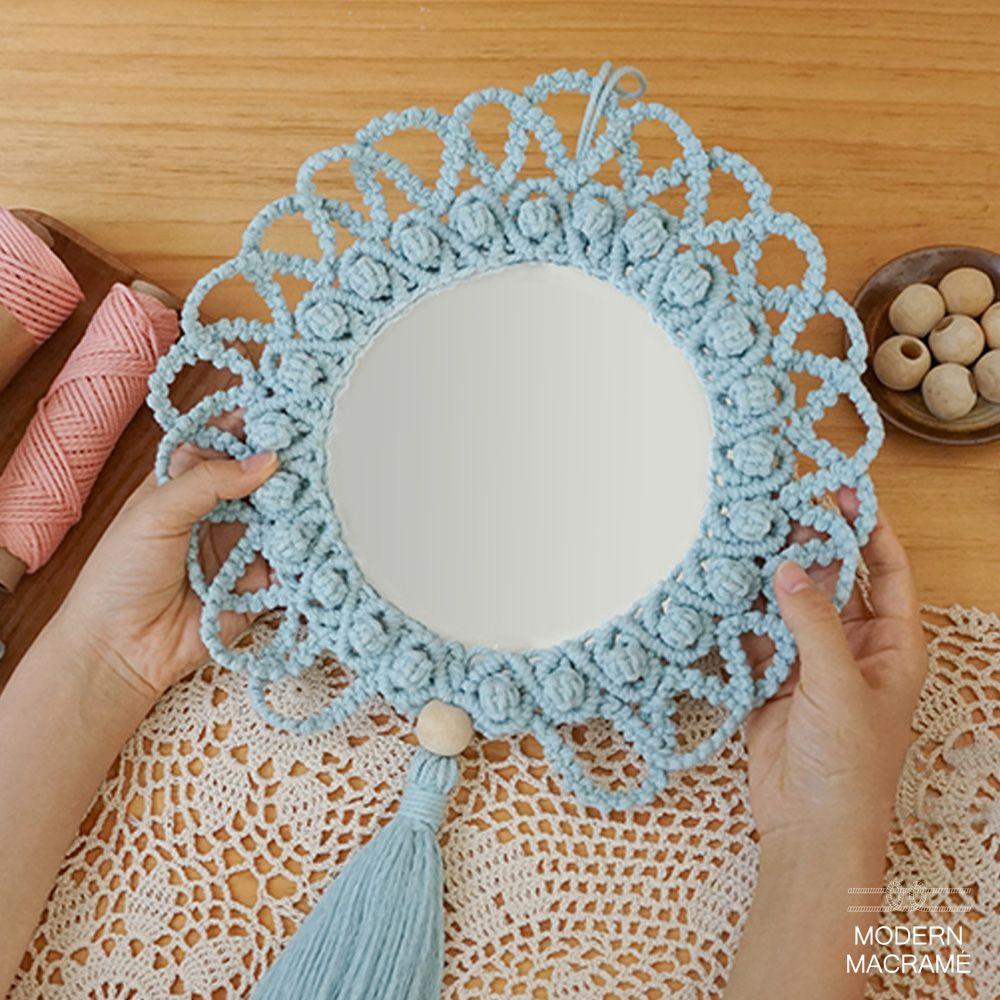 마크라메 거울 만들기 재료 2컬러 취미키트 소품