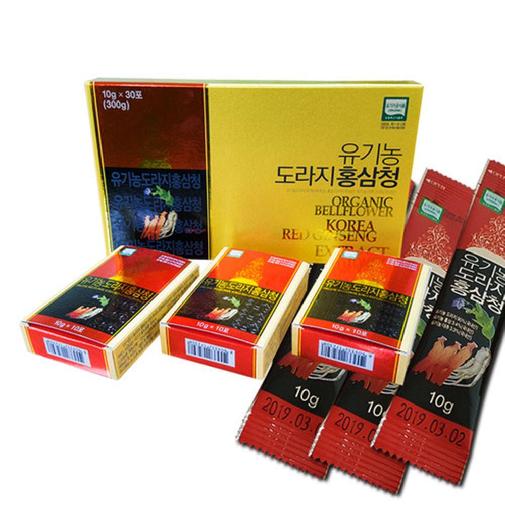 유기농도라지홍삼청(10g-30ea)국내산 자연건강