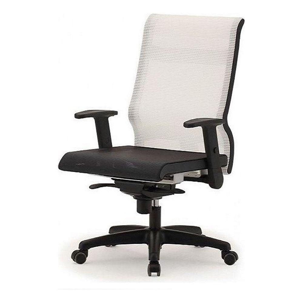 메쉬 회전 의자 DN-투톤-흰색 (중) 사출발 사무 학생