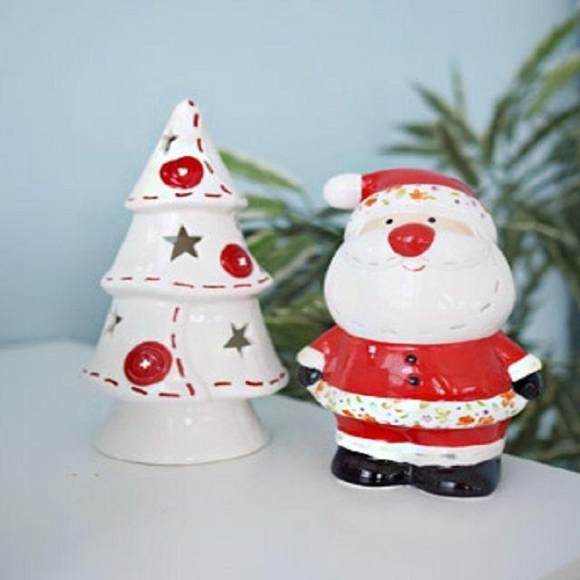 양초 산타 트리촛대 세트 티라이트초 크리스마스