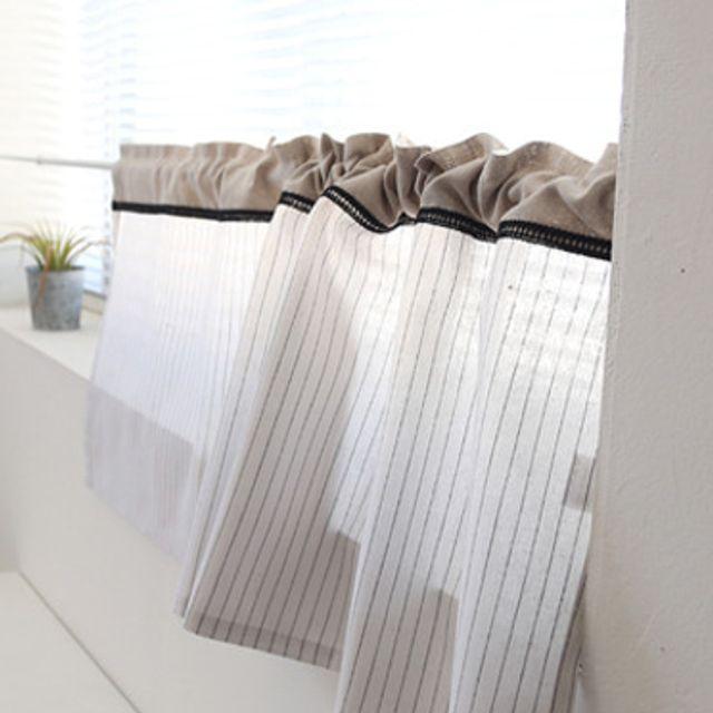 켈리 바란스 다용도 침실 주방 체크커튼 창문 가리개