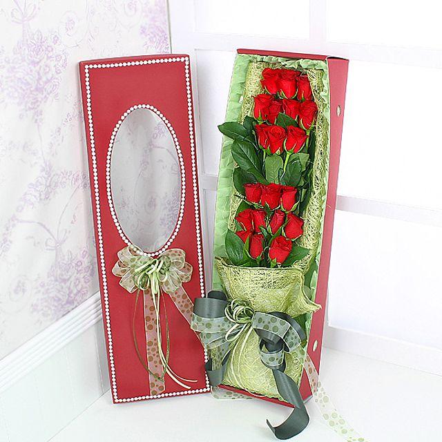 2단장미 꽃상자-중급 3시간배송 전국 꽃배달 고백 결혼 기념일 감사선물
