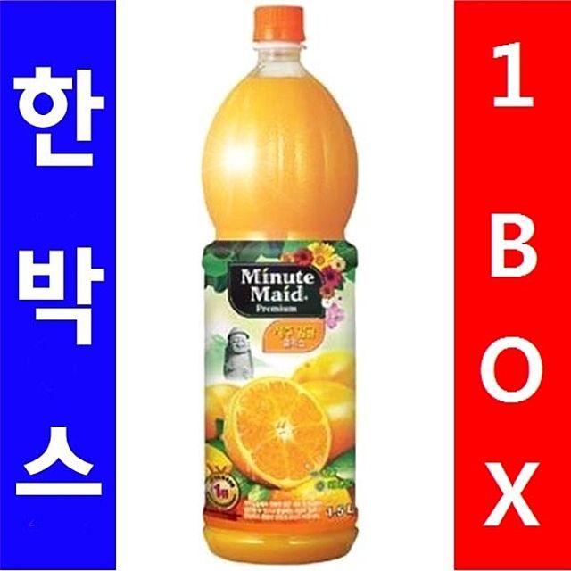 코카)미닛 프리미엄 오렌지 1.5L 1박스(12병)