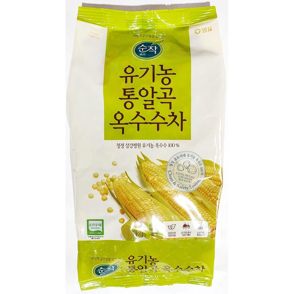 통알곡 옥수수차 샘표 1kg x8개 업소용 사무실 업소
