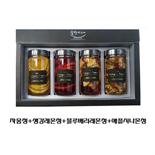 자몽청+생강레몬청+블루베리레몬청+애플시나몬청