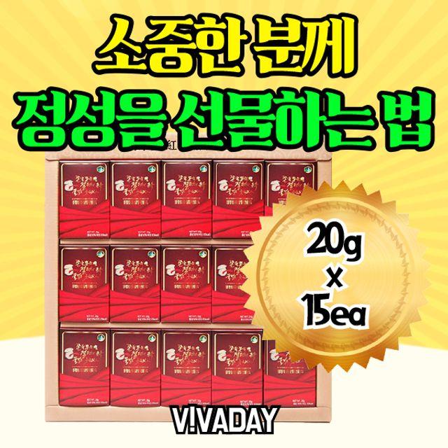 청정삼 홍삼절편 골드 300g (20g x 15ea)