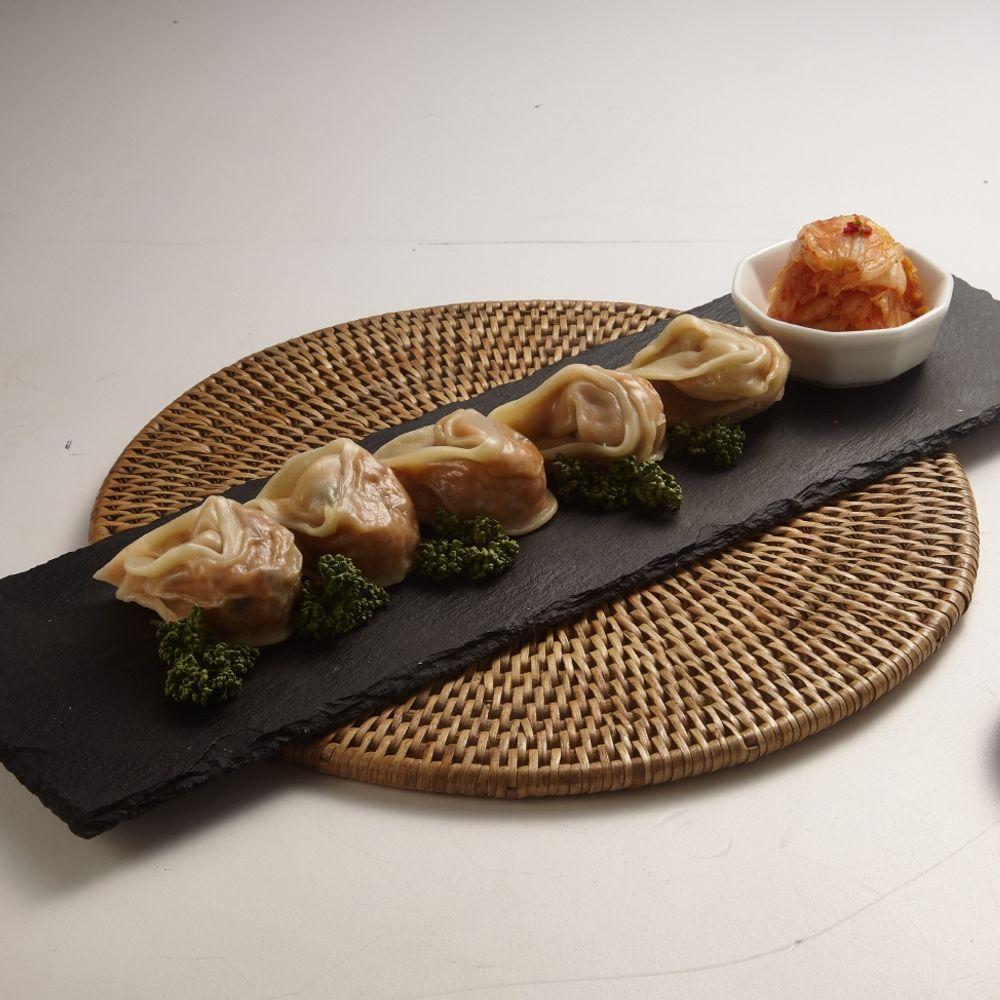 오강푸드 국산 채식 비건 간식 야식 김치 만두 320g