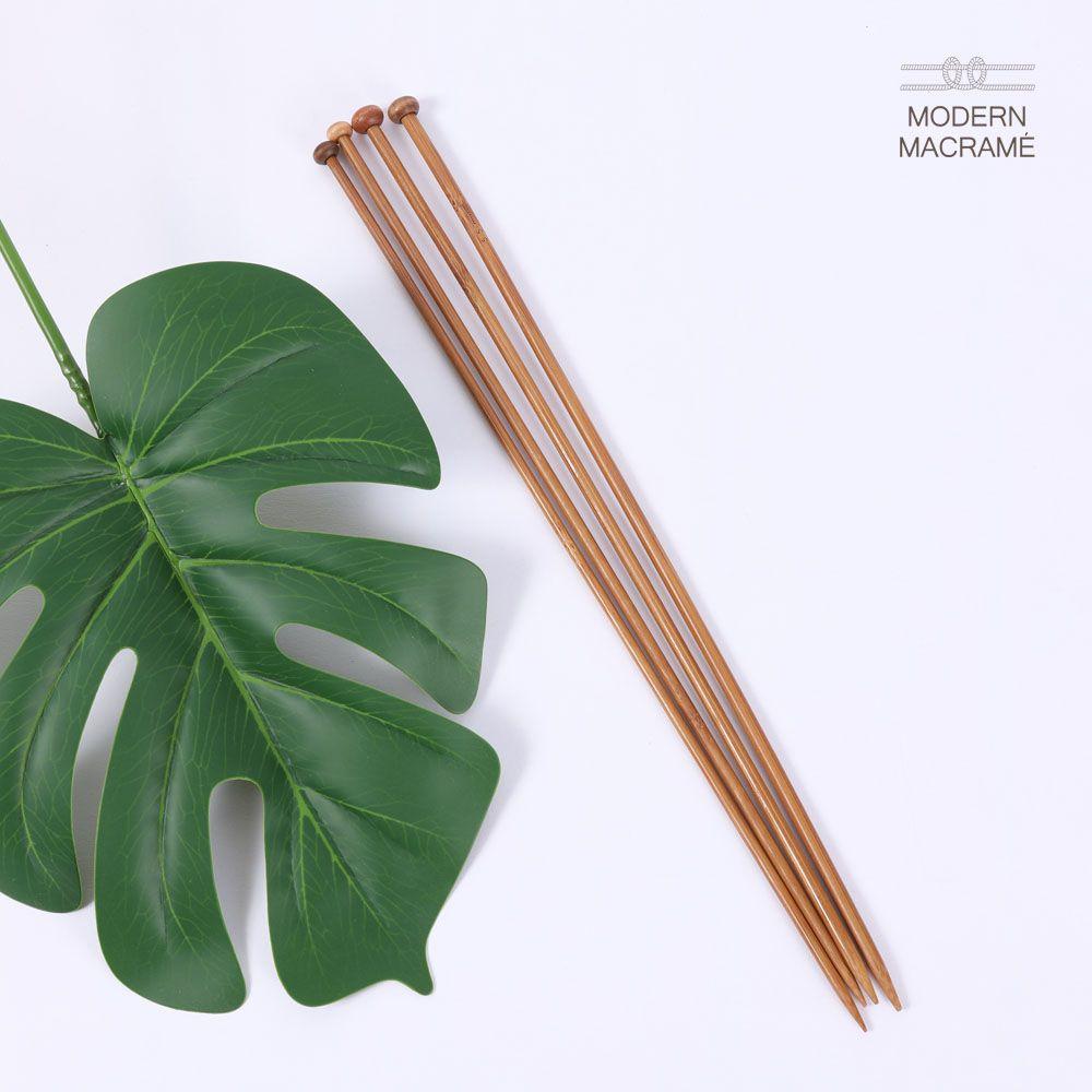 대나무 대바늘 세트 18쌍 니트뜨기 마크라메 재료
