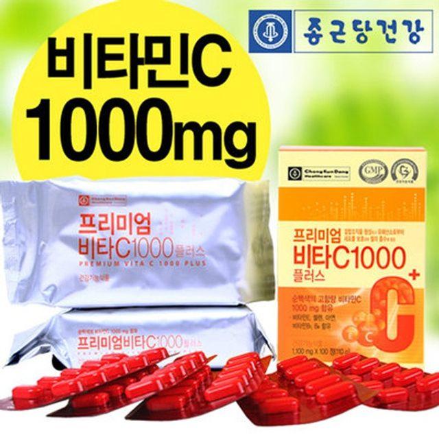 종근당건강 프리미엄 비타C1000 플러스(1100mg 100정)