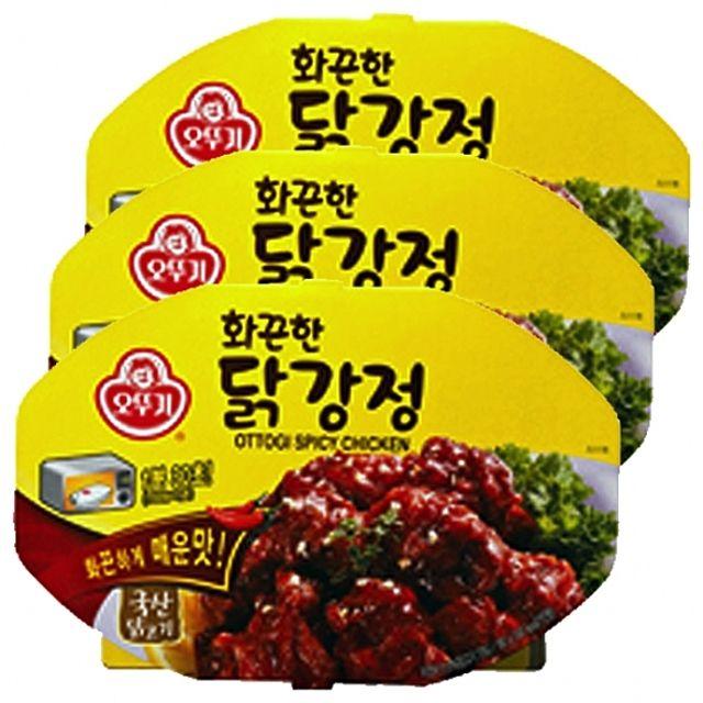 오뚜기)화끈한 닭강정 렌지용180g x 6개 국산 닭고기 술안주