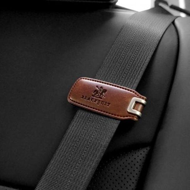 논슬립 블랙슈트 차량용 안전벨트가죽클립