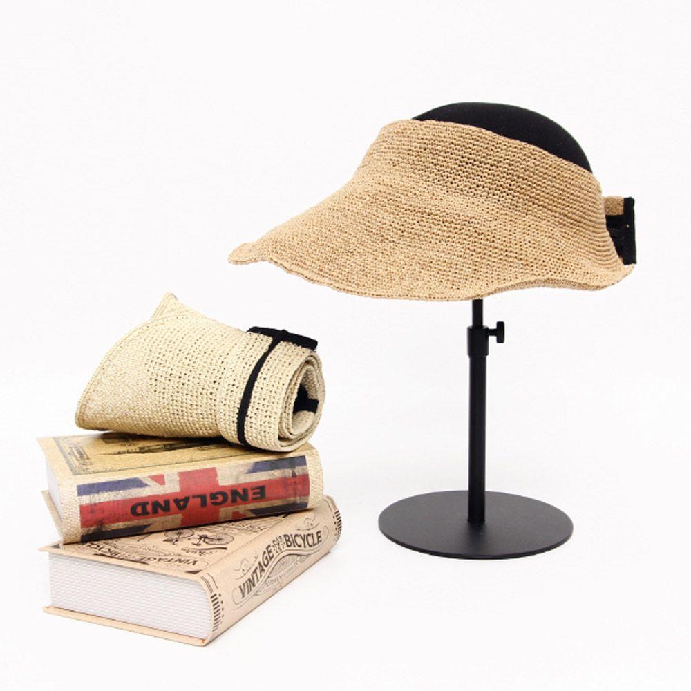 물결 지사 돌돌이 여름 썬캡 캐주얼룩 패션 밀짚 모자