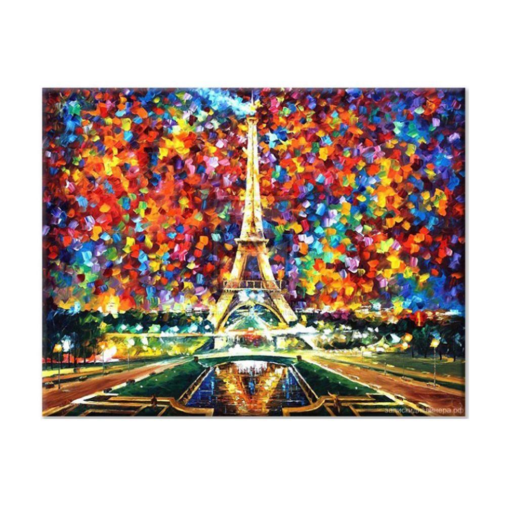 DIY 명화그리기 아이러브페인팅 에펠탑풍경 40X50