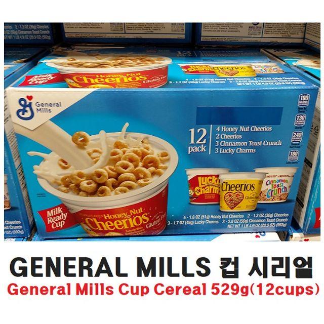 co GENERAL MILLS 컵 시리얼 12팩입 간식 즉석식품