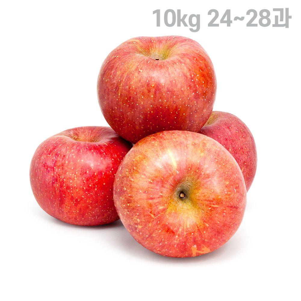 껍질채먹는 주스용사과 한박스 부사사과 10kg 24~28과