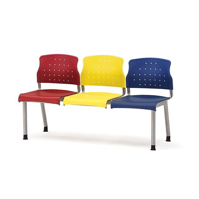 3인 연결 의자 RB3 혼합색 병원 대기실 휴게실 다용도