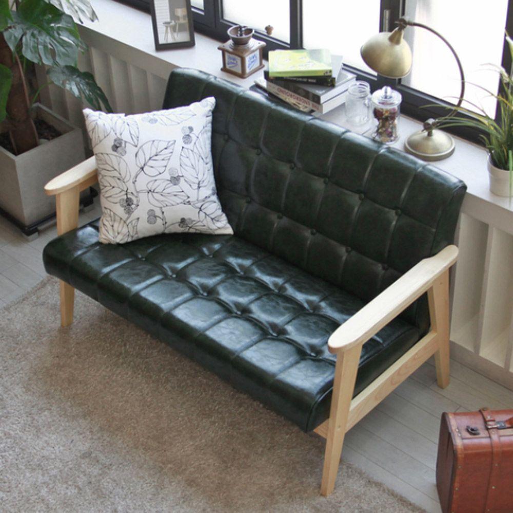 디자인 2인용소파 PU가죽 고급 의자 모던 거실 홈데코