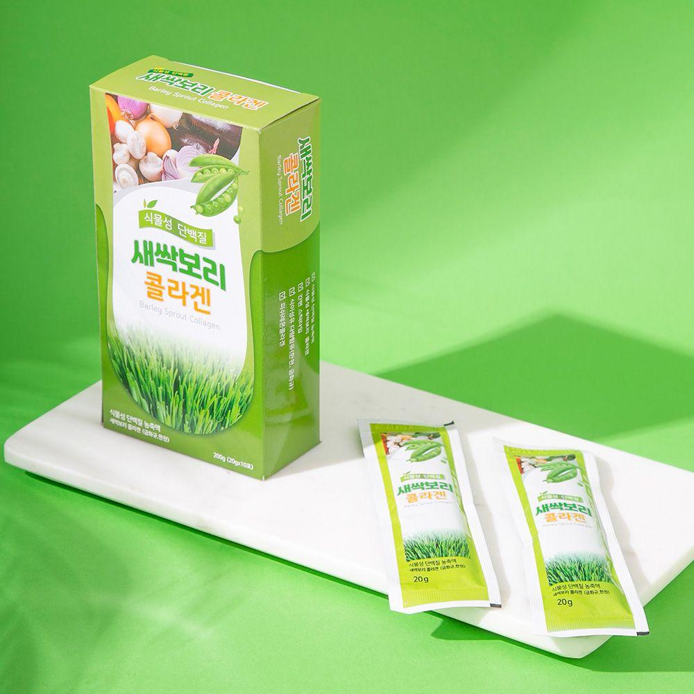 오강푸드 식물성 새싹보리 콜라겐 식이섬유 20gx10포