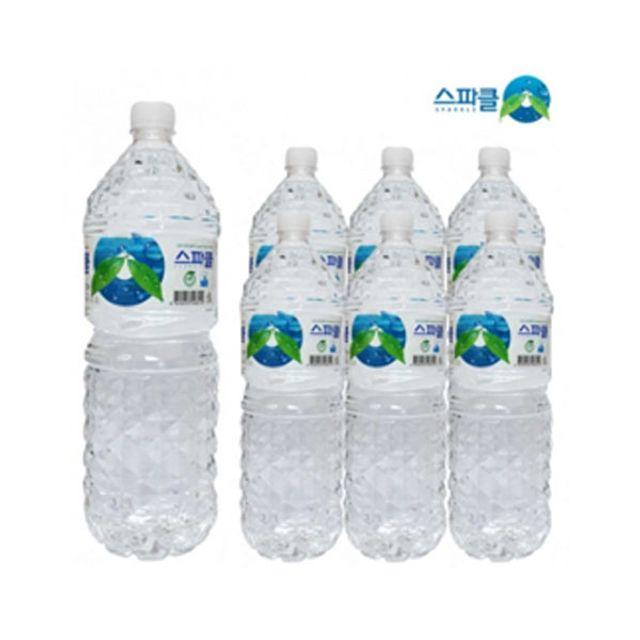 스파클 2L x 6개 물 대용량 생수 먹는샘물 스파클워터
