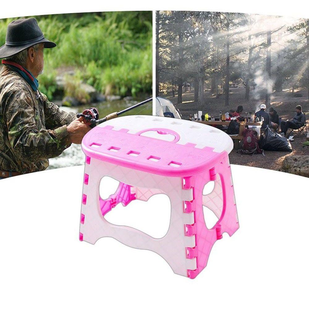 귀여운 색감 디자인 손잡이 접이식 미니 의자 세트