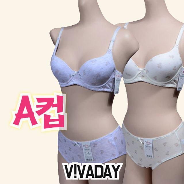 주니어팬티 VIVADAY-CN21 면소재 주니어 브라팬티세트 아이속옷 주니어속옷