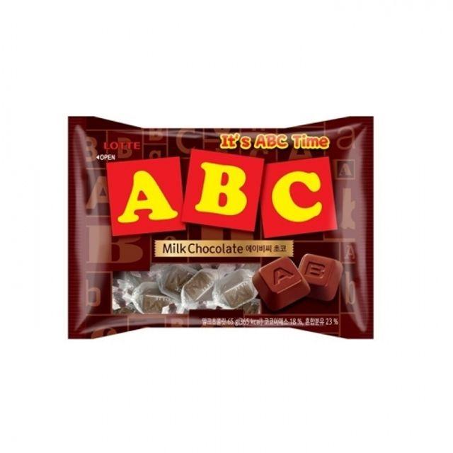 ABC 초콜릿 65g 20봉지 박스 아이들 간식 롯데 초코