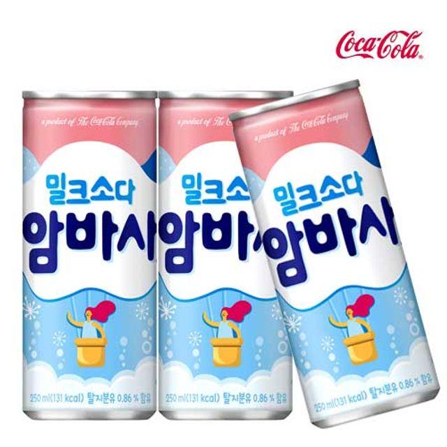 암바사 250ml X 12개 탄산음료/밀크소다/혼합음료