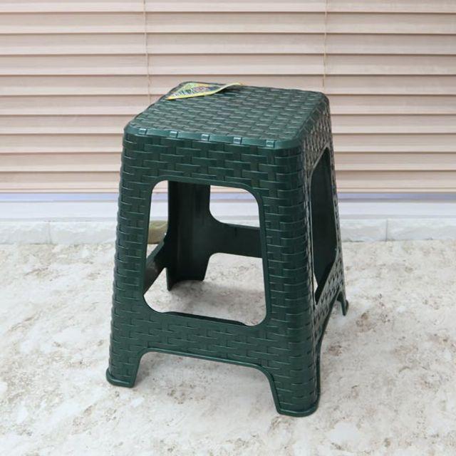 대나무의자 녹색 보조의자 생활용품 간이의자