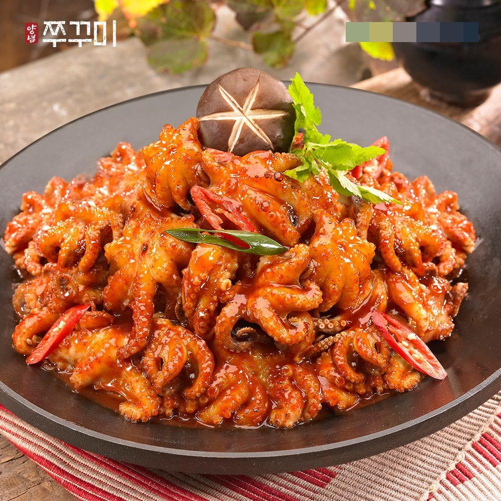오강푸드 쭈꾸미 캠핑 음식 볶음 술안주 야식 400g