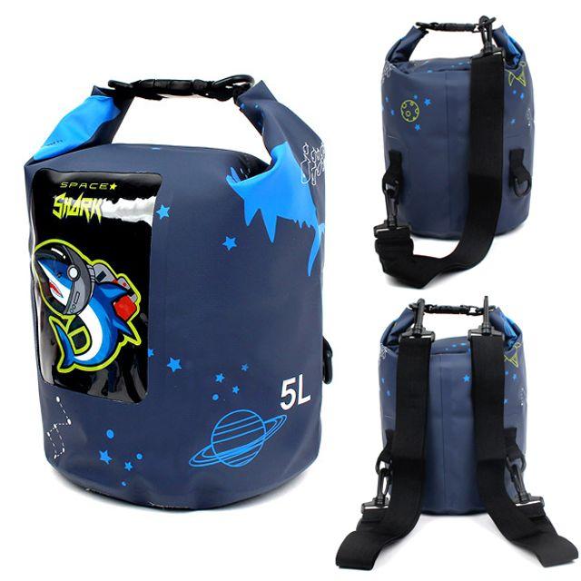 물놀이가방 다이몬쥬 스페이스 샤크 드라이백팩 5L 방수백 비치백 수영가방