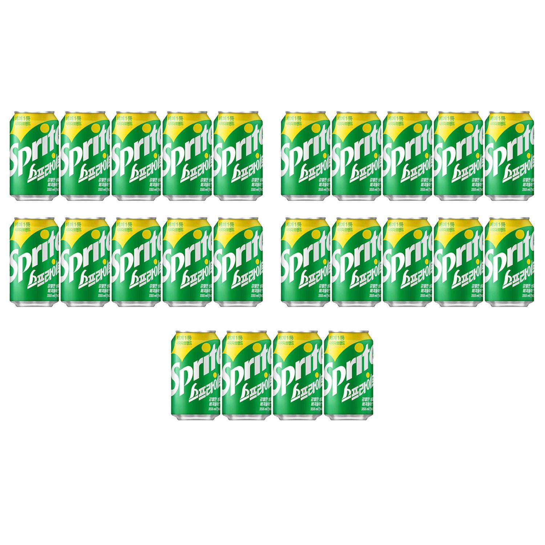스프라이트 355ml 24개 탄산음료 캔음료