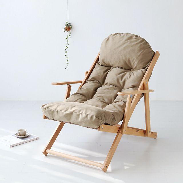 마켓비 SNUG 접이식안락의자 너도밤나무 브라운