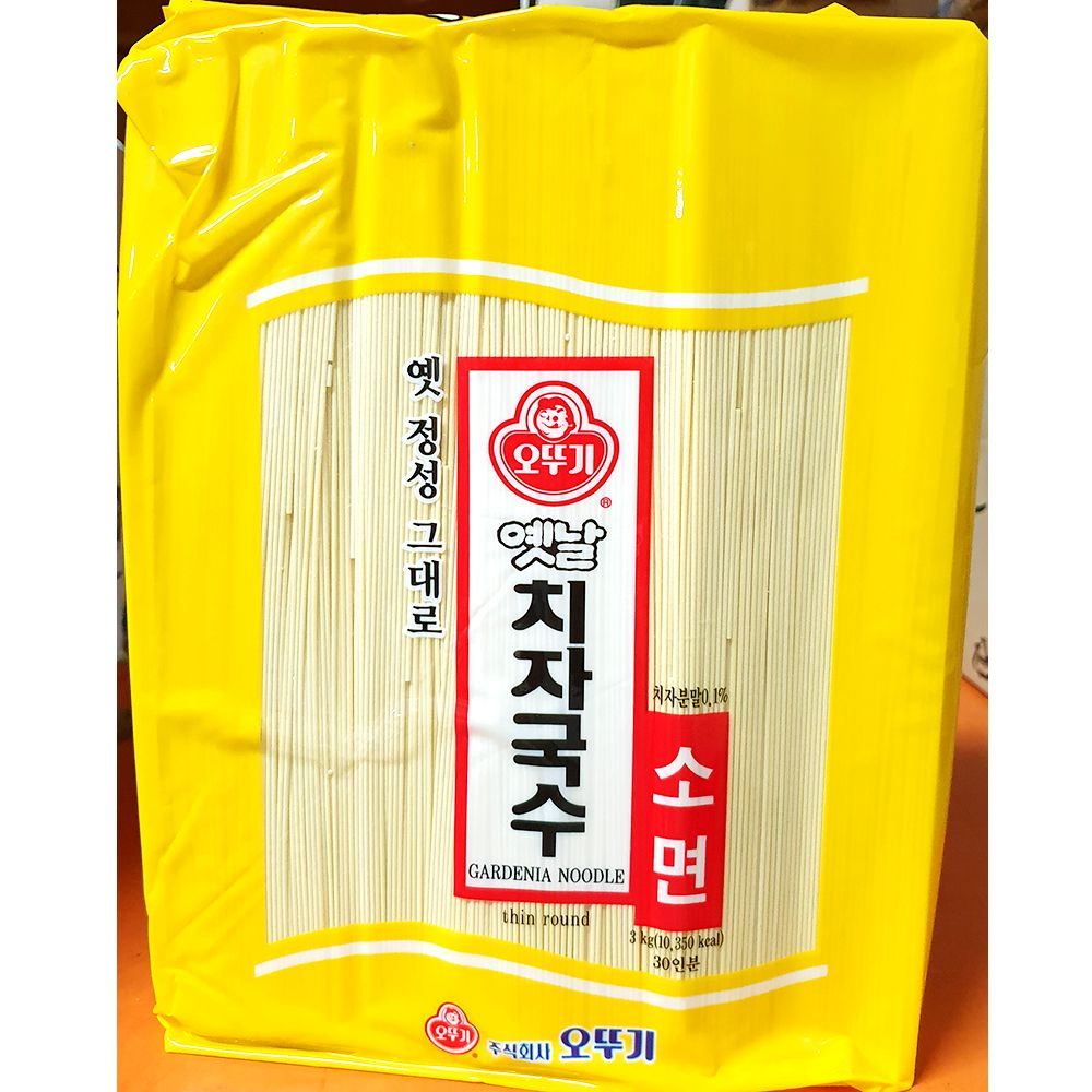 업소용 식자재 오뚜기 치자 국수 3Kg X4 실온보관