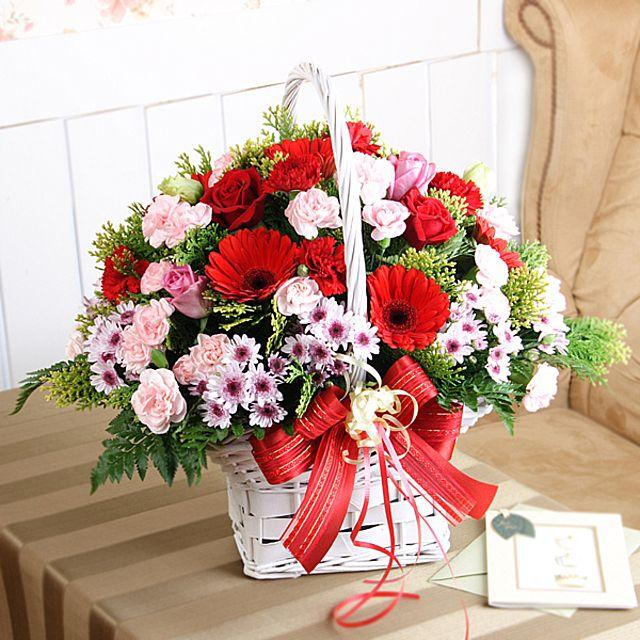 효의 꽃바구니-대급 카네이션 3시간배송 전국 꽃배달 총알배송 고백 결혼 기념일 감사선물