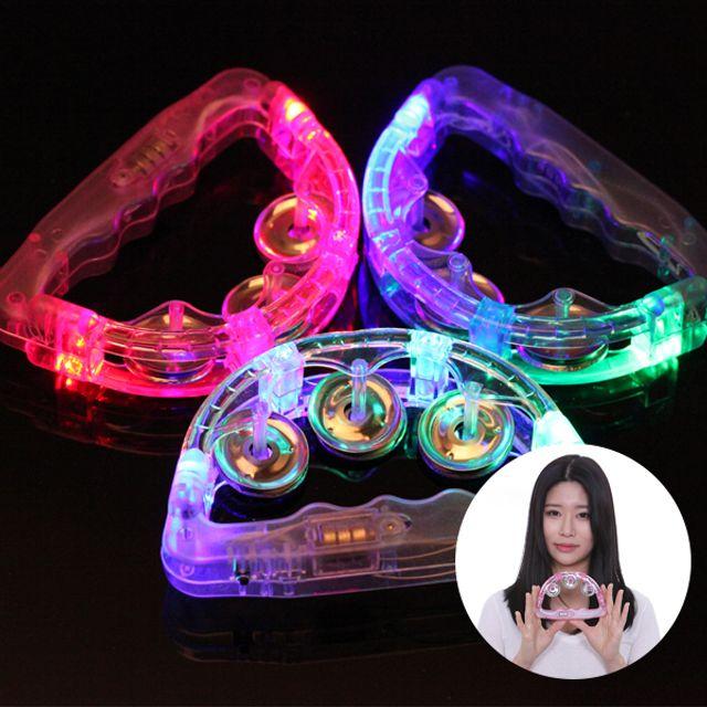 LED 탬버린 15cm 템버린 야광 노래방 소품 도구 발광