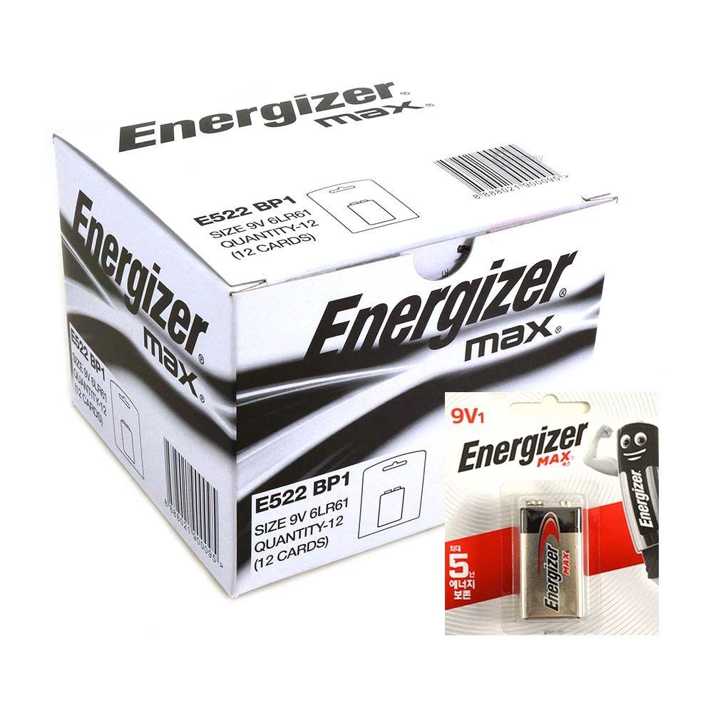 에너자이저 MAX 배터리 9V 1박스 12개입 건전지