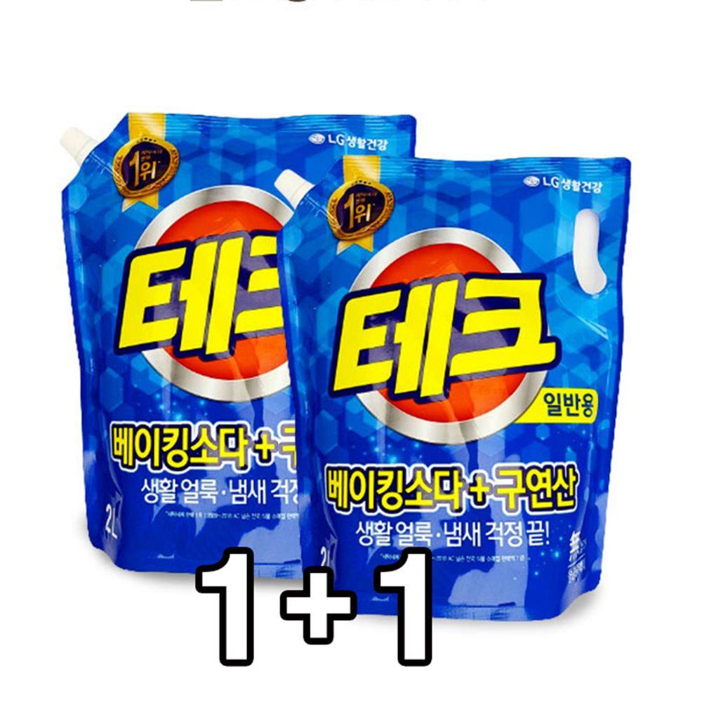 베이킹소다 구연산 테크 일반용 액체 세제 2L 1+1