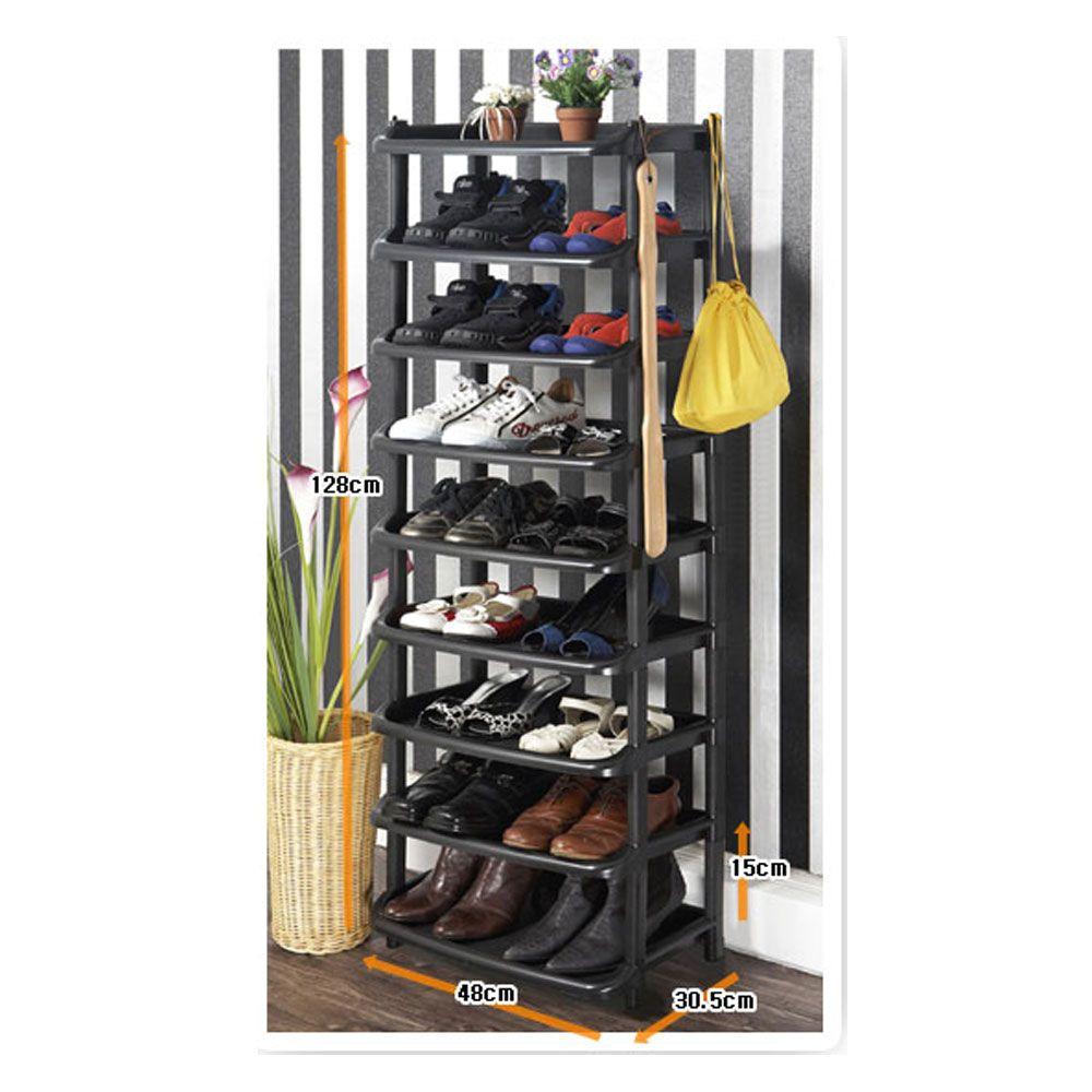 9단 와이드 신발장 신발정리