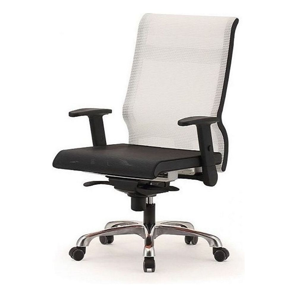 메쉬 회전 의자 DN-투톤-흰색 (중) 알루미늄발 학생