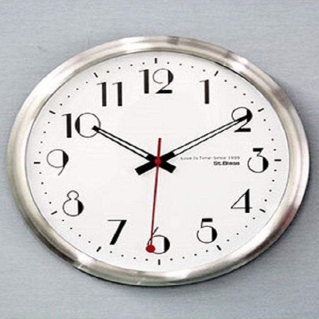 인테리어 알루미늄 모던 벽시계 저소음 시계 침실