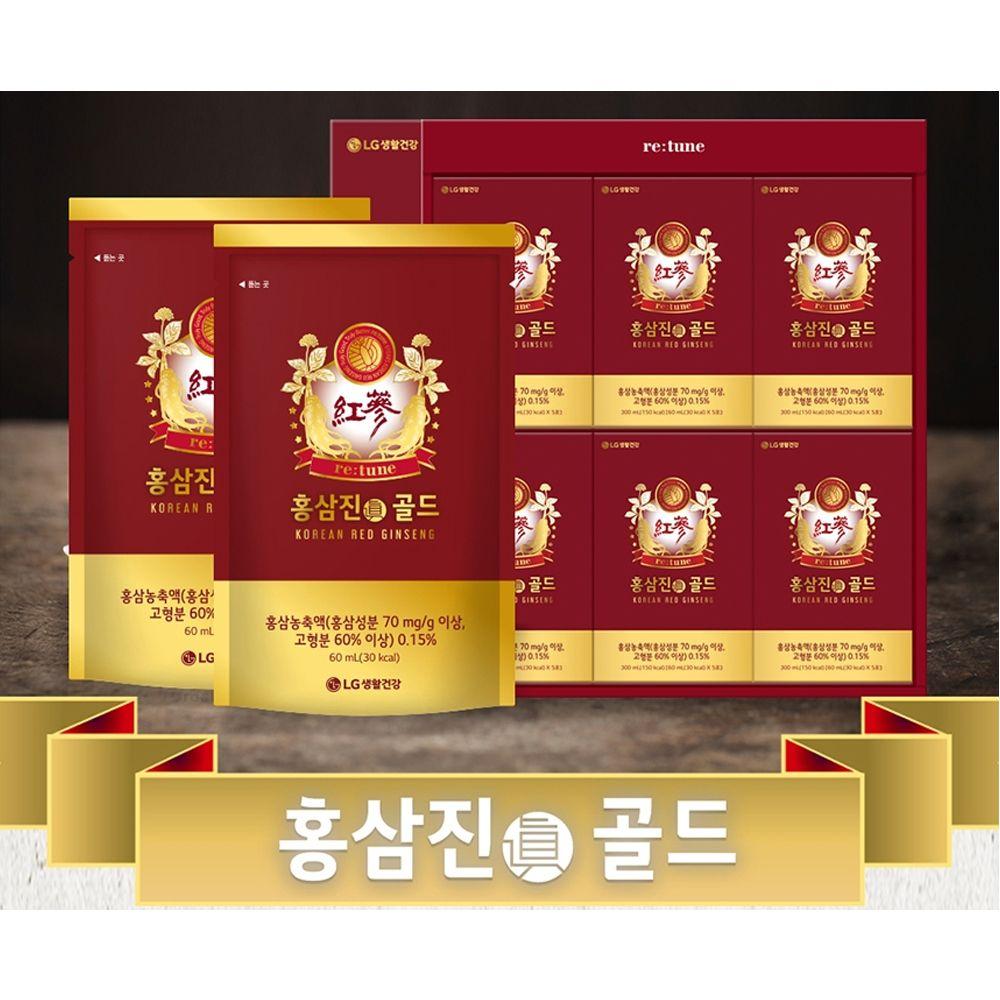 LG생활건강 리튠 홍삼진 골드 30포 세트
