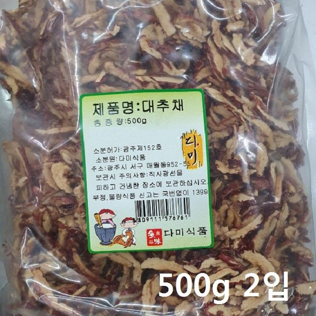 맛과정성 대추채 500g 2봉