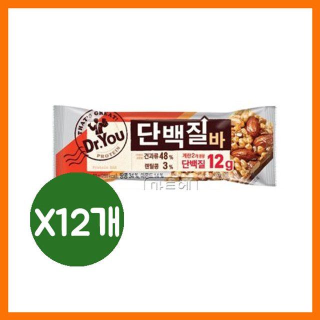 닥터유 단백질바 x12개