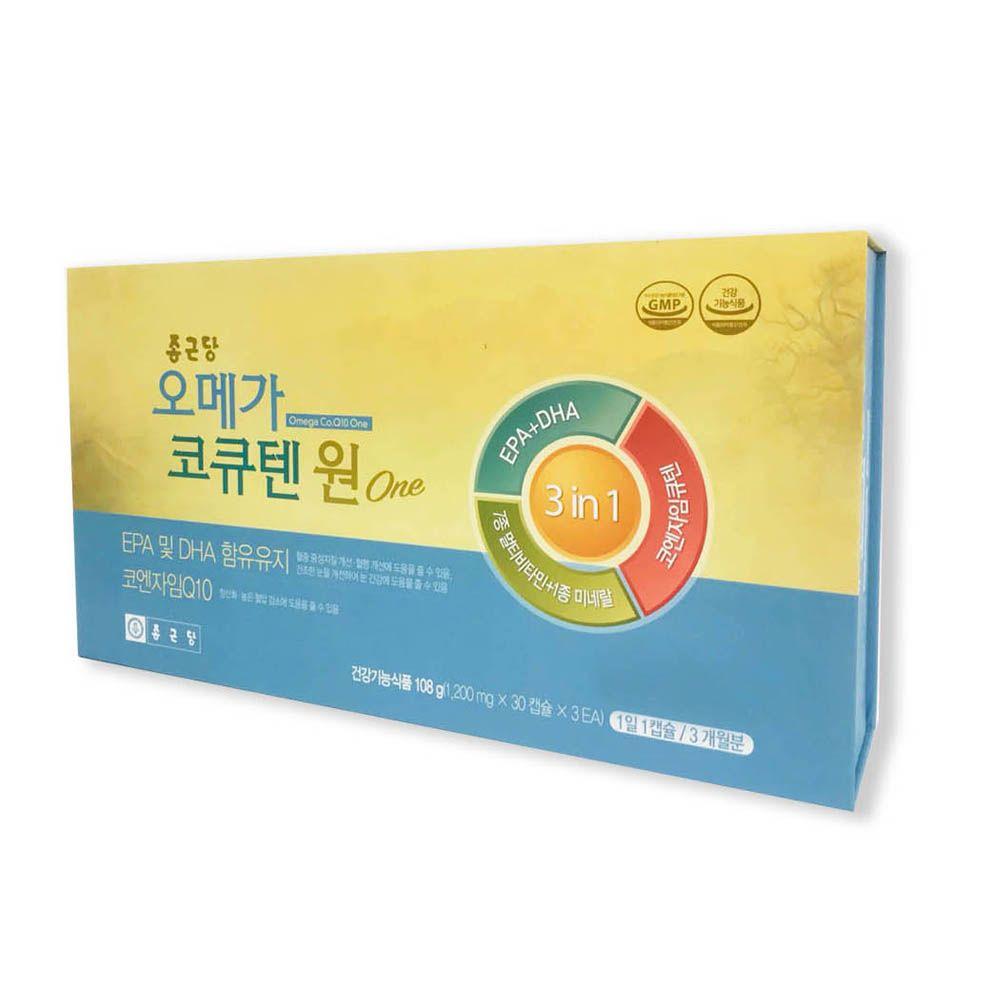 종근당 오메가코큐텐원 90C 코엔자임큐텐 비타민 아연